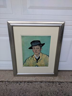 Framed Portrait of Armand Roulin, 1888 Art Print by Vincent Van Gogh for Sale in Duluth, GA