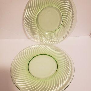 VTG Uranium Glass Plates for Sale in Bethlehem, PA