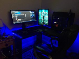 """Gaming pc setup 34"""" curved monitor + tower for Sale in Queens, NY"""