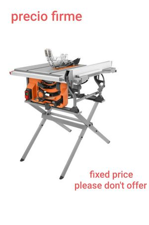 RIDGID R4518 15 Amp 10 in. Table Saw with Folding Stand for Sale in UPR MARLBORO, MD