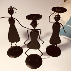Set of three wooden and metal dancing trio for Sale in Chesterfield, VA