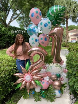 Tropical Balloons Bouquet 🌿🍃🌴Globos para Cumpleaños 🎈Birthday Party for Sale in Miramar, FL