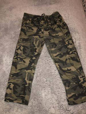 New women's soft crop pants ~ size medium camo color pants for Sale in Hillsboro, OR