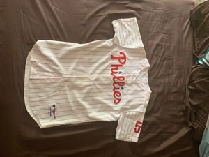 Authentic Game Worn Bobby Abreu Philadelphia Phillies Autographed Jersey for Sale in Trenton, NJ