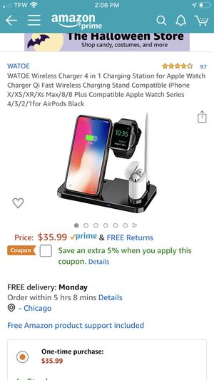 Wireless Charger 4 in 1 Charging Station for Apple Watch Charger Qi Fast Wireless Charging Stand Compatible iPhone X/XS/XR/Xs Max/8/8 Plus Compatible for Sale in Chicago, IL