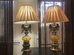 2 vintage American eagle lamps for Sale in Alexandria, VA