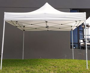 (NEW) $100 Heavty-Duty 10x10 FT Outdoor Ez Pop Up Canopy Party Tent Instant Shades w/ Carry Bag (White) for Sale in Whittier, CA