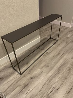Metal Console Table Dark Grey for Sale in Tracy, CA