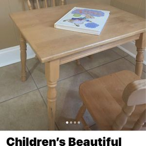 Beautiful Little Vintage Table And Chairs Solid wood for Sale in Tucker, GA