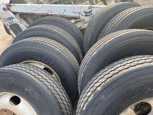Semi truck tires 295 75 22.5 recaps for Sale in Livingston, CA