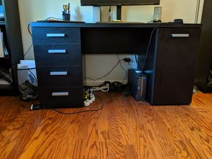 Black Desk with 2 matching black bookshelves for Sale in Concord, CA