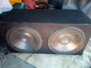 """(2) 12"""" AudioTek Subwoofers with box for Sale in San Lorenzo, CA"""