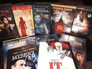 Lot of 16 Stephen King Dvd's for Sale in Waterloo, IA