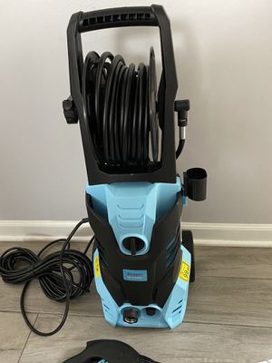 Stream Max. 3500PSI 2.4GPM Electric Pressure Washer, 2000W Portable High Power Washer with Spray Gun 4 Nozzle Adapter, Hose Reel and Detergent Tank, for Sale in Willow Springs, IL