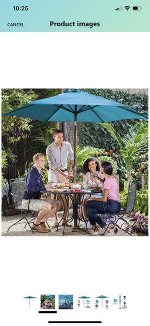 Abba Patio 9ft Patio Umbrella Outdoor Umbrella Patio Market Table Umbrella with Push Button Tilt and Crank for Garden, Lawn, Deck, Backyard & Pool, T for Sale in Raleigh, NC