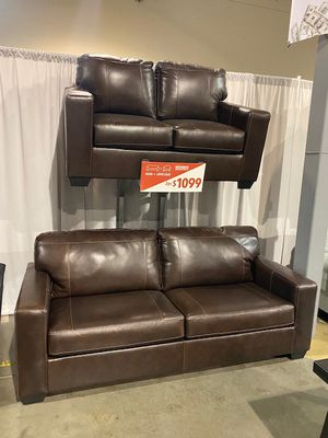 Leather Sofa and Love Seat Set for Sale in Portland, OR