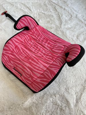 Girls Car Booster Seat Bright pink black backless for Sale in FL, US