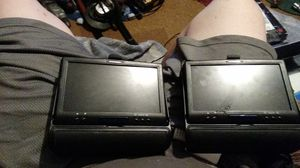 Myron and Davis pair of head rest tv's. for Sale in Evansville, IN