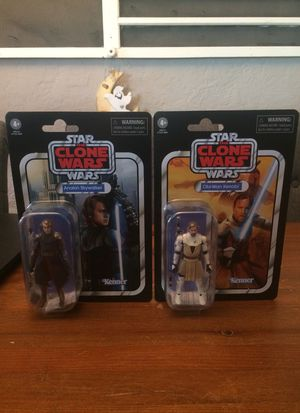 Star Wars The Vintage Collection The Clone Wars Anakin Skywalker and Obi-Wan Kenobi action figures new bundle lot for Sale in Puyallup, WA