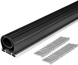 BOWSEN 20FT Heavy-Duty U+O Ring Universal Garage Door Bottom Seals Weatherstrip Rubber with Aluminum Track Retainer Kit for Sale in Ontario, CA