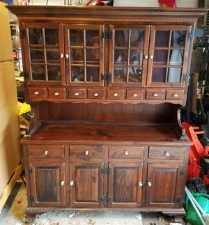 China cabinet antique Pine Ethan Allen for Sale in Middletown, NJ