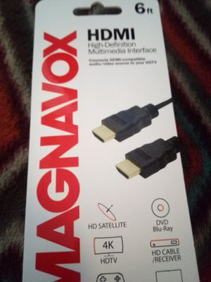 Maganavox 6ft HDMI cable for Sale in Charlotte, NC
