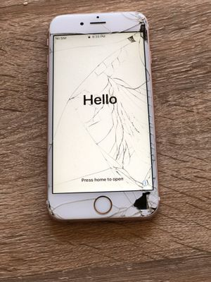 iPhone 6s rose gold 64gb cracked screen works fine T-Mobile paid off for Sale in Phoenix, AZ