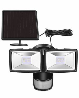 Brand new Solar Motion Sensor Security Light-1000 Lumens Solar Flood Lights Outdoor with Adjustable Dual Heads Waterproof for Backyard, Outside Shed, for Sale in Las Vegas, NV