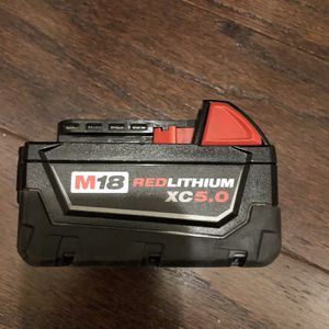 New Milwaukee Battery 18 volts 5.0 for Sale in Washington, DC