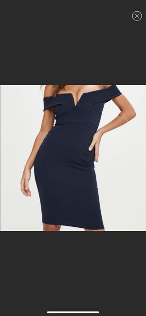 Navy off the shoulder dress for Sale in Annandale, VA