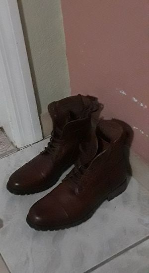 aldo leather boots mens size 9 use them only one day for Sale in Deltona, FL