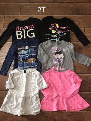 Girls 2T long sleeve shirts for Sale in Taylors, SC
