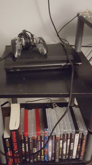 Ps3 slim w hardrive and 19 games. Controller and wires come with for Sale in Red Bank, TN