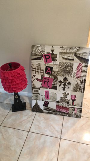 Lamp picture and chair for Sale in Sugar Land, TX