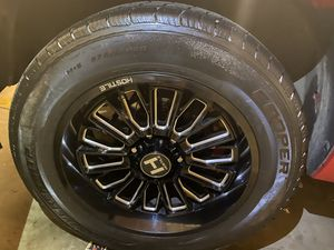 20' Inch Hostile Rims And Tires 95% Life Left TRADE FOR STOCKS 20'& 22'CHEVY/GMC for Sale in Patterson, CA