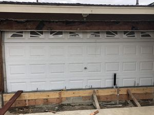 Garage door good condition no dents with motor and windows for Sale in Anaheim, CA