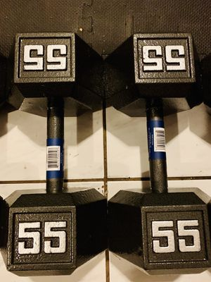 NEW STEEL 55 lb Dumbbells SET for Sale in Davie, FL