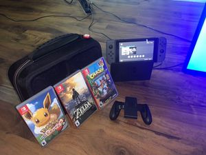 Nintendo switch bundle v2 newest model basically brand new for Sale in Long Beach, CA