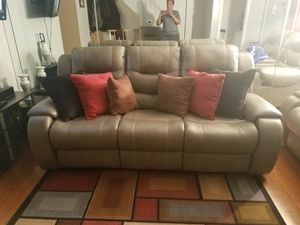 Grey Livingroom Leather Sets for Sale in Baltimore, MD