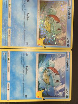 Teal Holo Bleed Squirtle McDonald's 25th Anniversary Pokémon Card for Sale in Portland,  OR