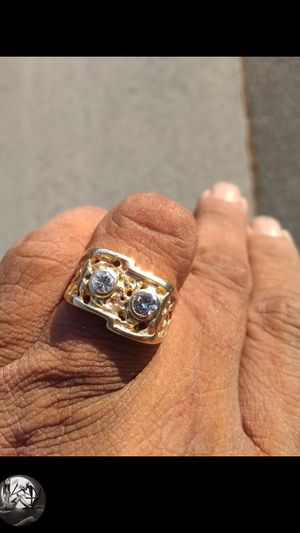 14kt gold diamond men's nugget Ring size 10 for Sale in San Marcos, CA