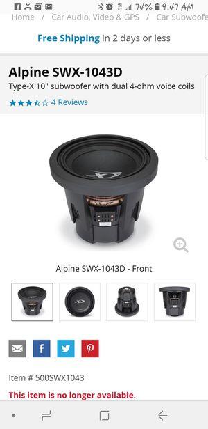 "Alpine type x 10"" sub w/ ported box for Sale in Honolulu, HI"