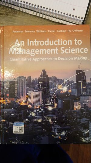 Utep QMB 2. An Introduction to Management Science for Sale in El Paso, TX