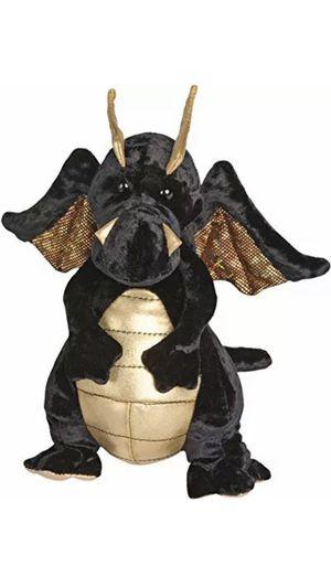"Merlin Dragon 9"" by Douglas Cuddle Toys Stuffed Animal Black Plush Plushie doll for Sale in Pompano Beach, FL"