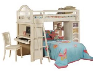 White loft bunk bed for Sale in Parma, OH