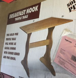 Solid pine breakfast nook table- New in kboxl for Sale in Sunnyvale, CA