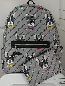 Betsey Johnson Boston Terrier Backpack w/ wristlet for Sale in Arlington, VA