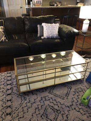 Gold West Elm Coffee Table for Sale in Bloomington, IL