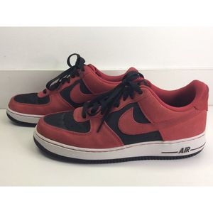 Nike Air Force 1 Low Reverse Suede Shoes Red Black Men Size 10.{contact info removed} VGC for Sale in Concord, NC
