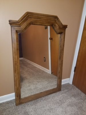 Plastic faux wood mirror for Sale in Fort Wayne, IN